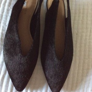 Who What Wear Black fur flats New 8.5